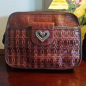 Brighton chocolate brown leather crossbody bag